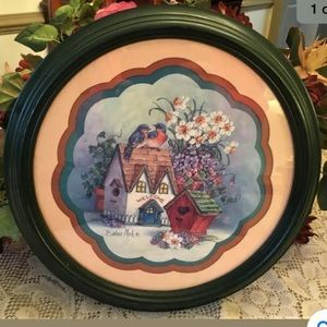 "Beautiful Barbara Mock ""Welcome Birdhouse"" Framed"
